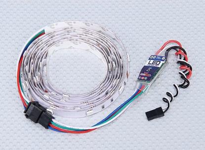 Obrázek Barevný LED pásek s řídící jednotkou (9 programů)