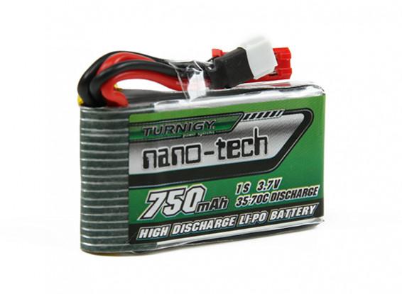 Bild von Turnigy nano-tech 750mAh 1S 35-70C Lipo Pack (pro Walkera V120D02S/QR Infra X/QR W100S)