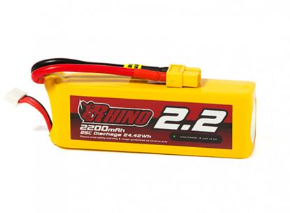 Obrázek Baterie Li-Po Rhino 2200mAh 3S 25C XT60