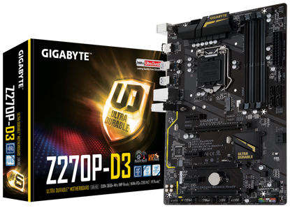 Bild von Základní deska Gigabyte GA-Z270P-D3 1.0, DDR4, PCIe Gen3 x4, SATA