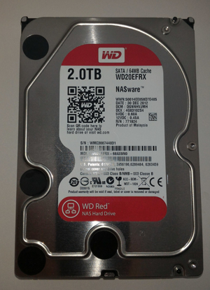 "Bild von HDD Western Digital RED 2TB SATA Hard Drive WD20EFRX 3,5"" for NAS storage"