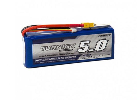 Obrázek Li-Po Turnigy 5000mAh 3S1P 20C / 30C (XT60)