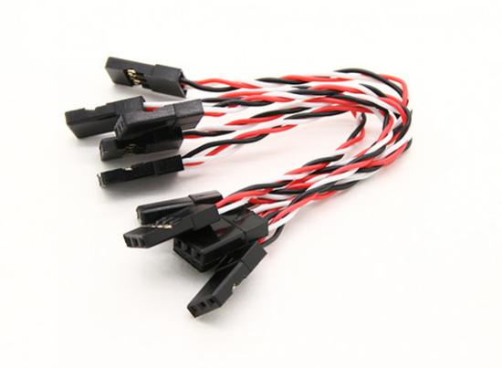 Bild von Silikonový propojovací kabel 26 AWG 80mm balení 5ks (přijímač => deska)