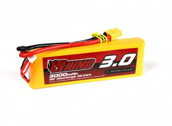 Picture of Baterie Li-Po Rhino 3000mAh 3S 15C XT60 (dron verze)