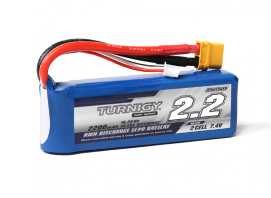 Picture of Baterie Li-Po Turnigy 2200mAh 2S1P 40C / 50C