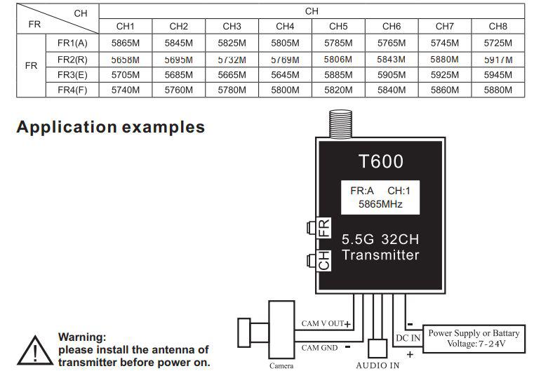 Bild von Skyzone T600 5.8G 600mW 32CH AV Transmitter