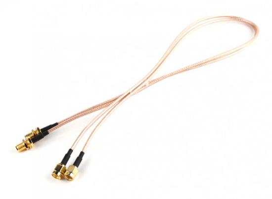 Picture of RP-SMA Plug < - > RP-SMA Jack 500mm RG316 Extension (2pcs/set)
