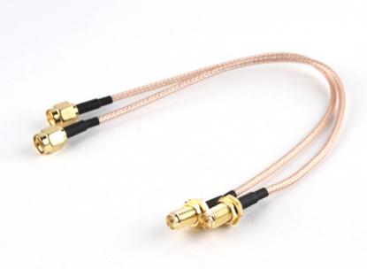Picture of RP-SMA Plug < - > RP-SMA Jack 300mm RG316 Extension (2pcs/set)