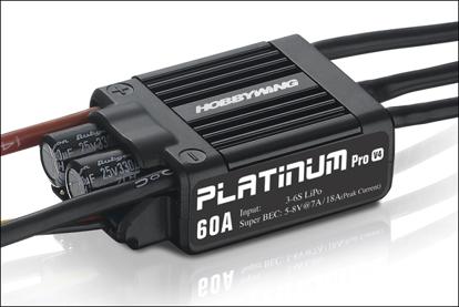Obrázek HOBBYWING Platinum 60A V4 3-6S | New Professional V4 Edition