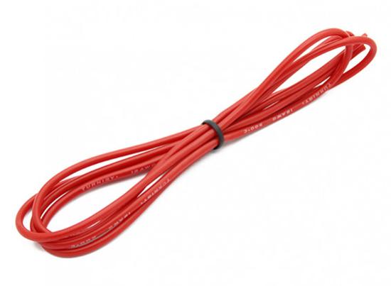 Picture of Kvalitní silikonový kabel Turnigy 18AWG - červený