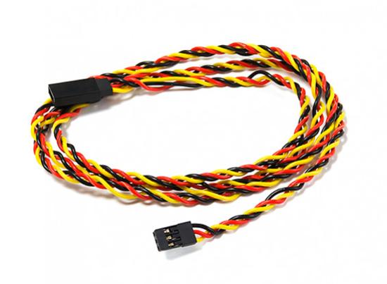 Picture of Kroucený prodlužovací servo kabel 22 AWG 900mm