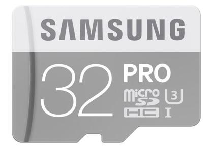 Bild von Samsung Micro SDHC PRO 32GB UHS-I U3 + SD adaptér