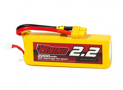 Obrázek Baterie Li-Po Rhino 2200mAh 3S 50C XT60