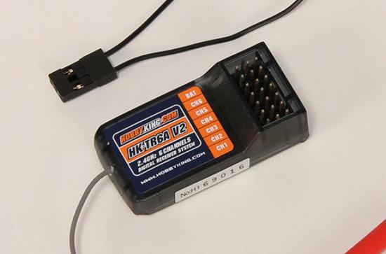 Bild von Přijímač HK T6A 6ch 2,4GHz V2 pro HK a Turnigy 9X