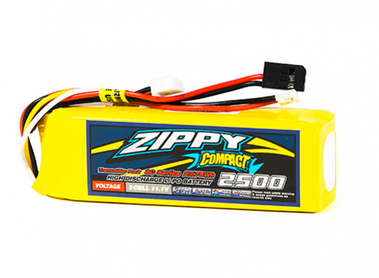 Bild von ZIPPY Compact 2500mAh Transmitter Pack (Futaba/JR)