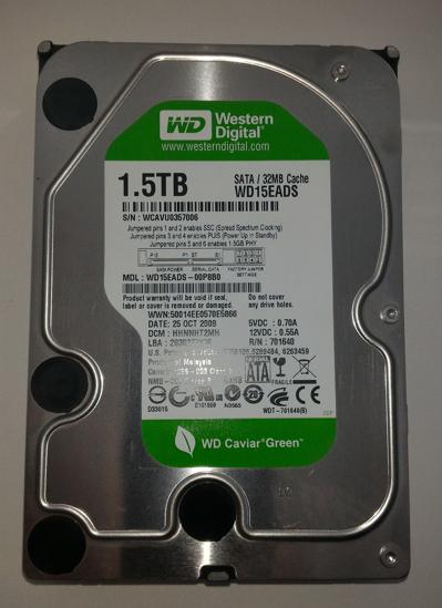 """Obrázek HDD 1500GB Western Digital 1,5TB WD15EADS S-ATA 3.5"""""""