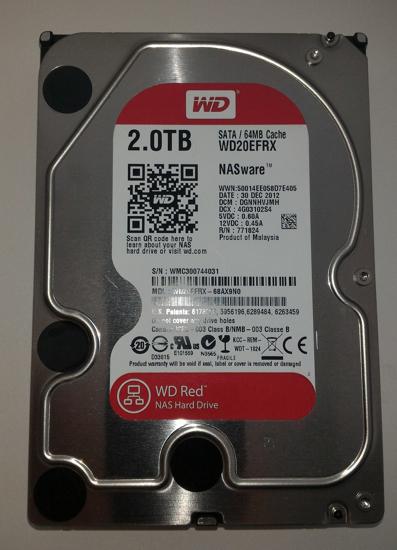 """Obrázek HDD Western Digital RED 2TB SATA Hard Drive WD20EFRX 3,5"""" for NAS storage"""