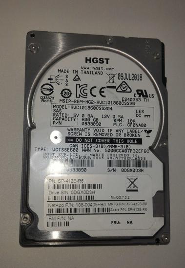"Picture of HITACHI HGST 600GB 10K 128Mb 12GB/s 2.5"" SAS HDD Hard Drive HUC101860CSS204"