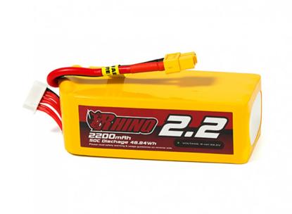 Picture of Rhino 2200mAh 6S 50C Lipo Battery Pack w/XT60