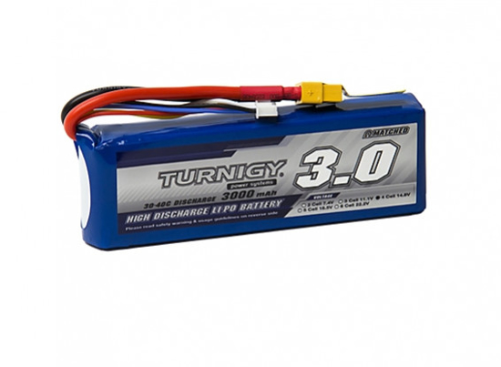Picture of Li-Po Turnigy 3000mAh 4S1P 30C (XT60)