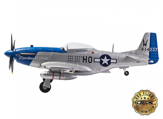 "Obrázek H-King P-51D Moonbeam McSwine 750mm (30"") V2 w/6 Axis ORX Flight Stabilizer (PNF) Gyro"