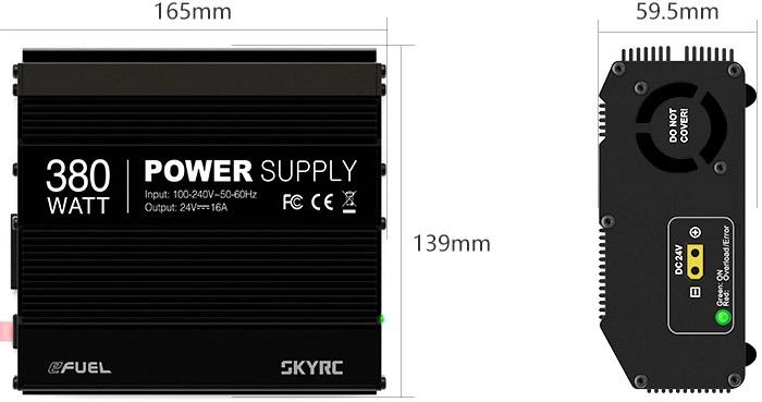 Bild von SkyRC eFuel 380W Power Supply Adapter 24V/16A 380W