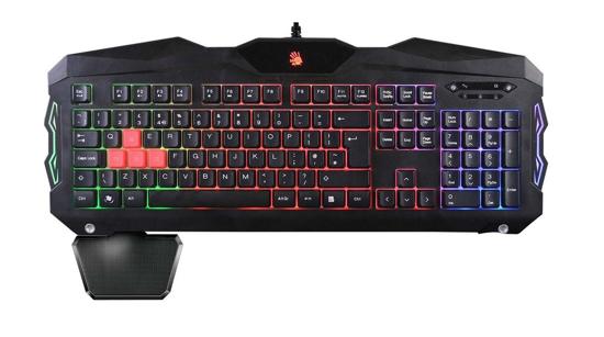 Bild von A4tech Bloody B210 podsvícená herní klávesnice, duhové podsvícení USB, 7 multi. kláves, voděodolná, CZ