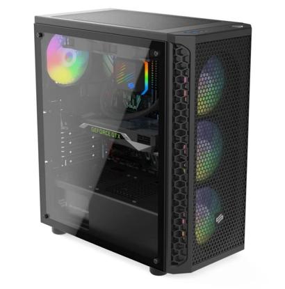 Obrázek Herní PC GTX1650 4GB CPU 4x 3,6Ghz RAM 8GB SSD 250GB (SG1V) LED ARGB