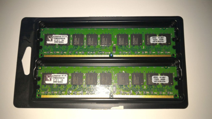 Bild von 4G DDR2-800 CL5 ECC 240-Pin DIMM Kit KVR800D2E5K2/4G