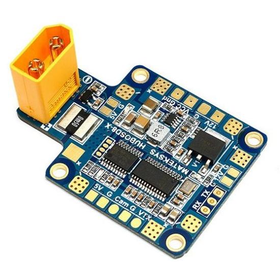 Bild von Matek Multi-rotor X-shape Power Distribution Board W/ 5V/ 12V outputs, Current Sensor, OSD (XT60 Connector) STOSD8