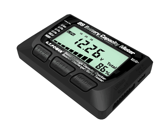 Picture of GTPower 8S Battery Capacity Meter ( Battery Voltage Capacity Checker/ Balance Discharger/ Servo Tester)