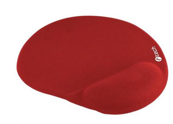 Picture of C-TECH podložka pod myš gelová MPG-03, červená, 240x220mm