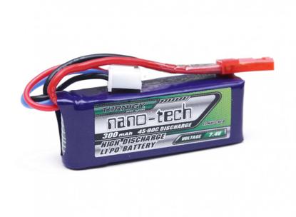 Picture of Turnigy Nano-Tech 300mAh 2S 45~90C LiPo Pack