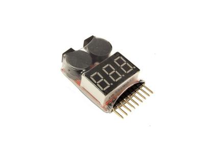 Obrázek Pípák - monitor baterie s LED displejem 1-8S