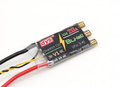 Obrázek DYS XM20A 20A (3-4s) mini ESC for High KV Motors (BLHeli with OneShot)